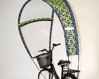 Kaps avec motifs vert et gris pour vélo