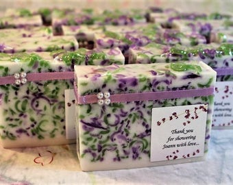 Soap Favors (8) , Bridal Shower Favors, Party Favors, Wedding Favors, Birthday Favors, Full size Favors, Soap Loaf Favor, Custom made favors