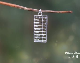 Abacus Necklace Components made with fine silver