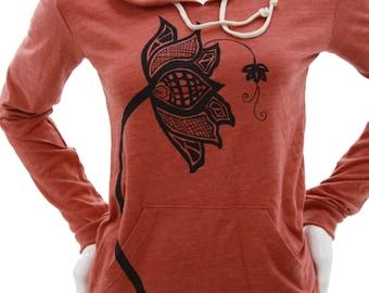 Lotus Flower   Lightweight Pullover hoodie   Soft organic cotton blend    Zen
