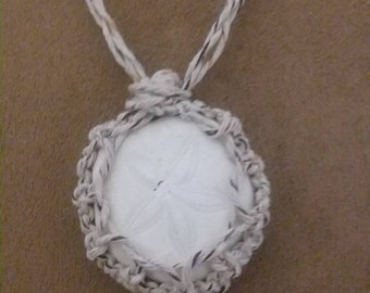 Hemp -String Sand Dollar Necklace