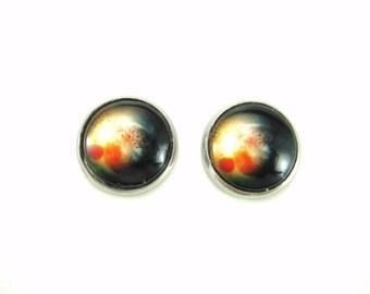Nebula Earrings Universe Earrings Galaxy Earrings Stainless Steel Earrings  Outer Space Stud Earring Fantasy Post Earring Planet Earrings