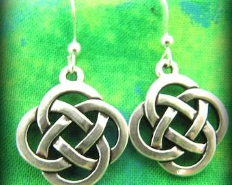 Sterling Silver Celtic Irish Knot Earrings