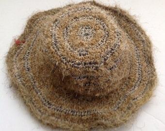 Eco Friendly Bohemian THC Free Hemp & Wool Sun Hat