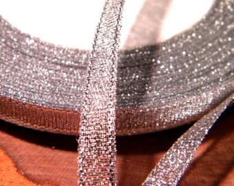Double-sided 6 mm - 10 M organza Ribbon silver SA11