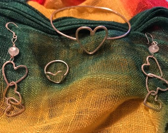 Made with love heart set.