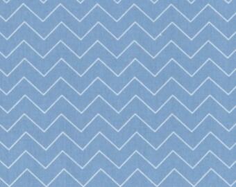 Dear Stella Designs pastel blue  Zig Zag chevron quilting cotton by the yard off the bolt