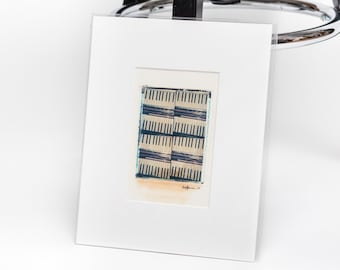 Original Polaroid transfer - Dueling piano keys