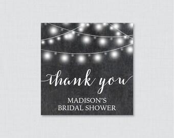 Chalkboard Bridal Shower Favor Tags Printable - Rustic Bridal Shower Favor Tags, Thank You Tags - Chalkboard Bridal Shower Favor Tags 0005