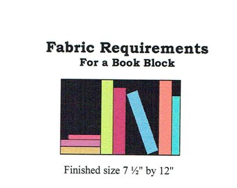 Book Block for the Library Quilt
