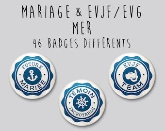 Badge wedding Sea / Beach - individually