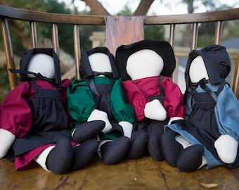 Amish Dolls, Primitive Folk Dolls, Country Dolls, Dolls with No Face, Handmade