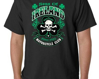 Sons Of Ireland Hooligans Motorcycle Club T-Shirt All Sizes & Colors (5024)