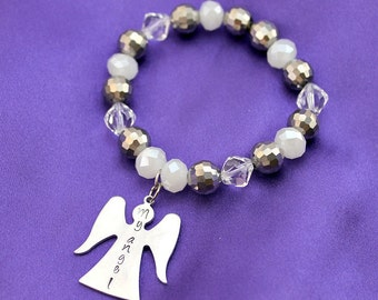 My Angel Hand stamped bracelet