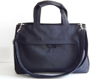 Sale - Water-Resistant Bag in Black- messenger bag, tote, handbag, cross body bag, purse, everyday bag, handbag - ANNIE
