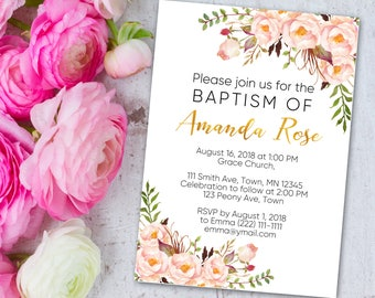 Baptism Invitation, Baptism, Christening Invite, Christening, Confirmation Invite, Confirmation, First Communion, Baptism Gift, Baby Shower