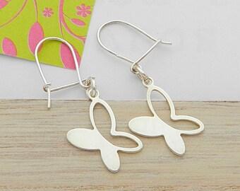 Silver butterfly earrings