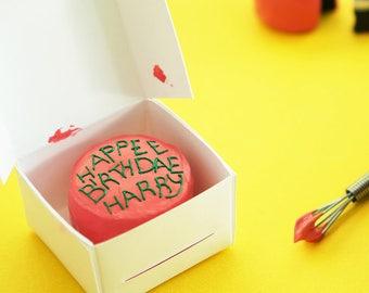 Miniature Harry Potter's Birthday Cake Ornament / Magnet / Keyring / Keychain