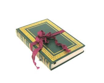 EMMA by Jane Austen International Collectors Library Edition, Vintage Emma Book, Vintage Jane Austen, Austen Wedding, Green Austen Book