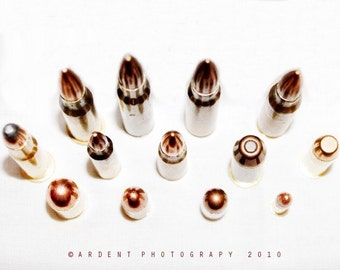 Bullet Fine Art Photography Wall Art and Home Decor - Bullets from Above - Photographic Wall Art by Sarah McTernen
