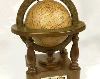 Vintage Alaron Globe with a Built-In 6-Transistor Radio