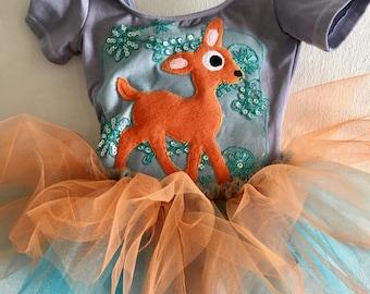 Deer tutu - deer dress - Bambi dress - Bambi birthday - woodland Forest party
