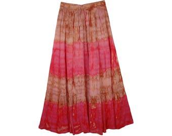 Drawstring Skirt in Marble Tie Dye