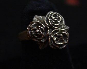 Rose Bouquet - Sterling Silver Ring