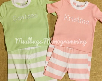 Monogram Spring Pajamas - Easter Pajamas  - Monogram Easter Pajamas - Children Apparel