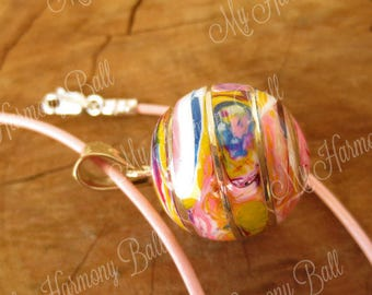 Harmony Ball Necklace/Mexican Bola Necklace/Colorful/Chime Pendant/Pregnancy Necklace/Mom to Be Necklace/Pregnancy Gift