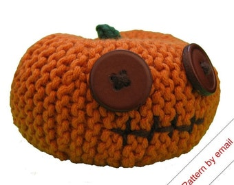 Knitting Pattern PDF. Pumpkin Head (Small). Knit Your Own Jackolantern