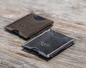 Minimalist Money Clip Wallet, Money Clip Card Sleeve, Card Wallet Money Clip, Awesome Gift Wallet, Super Slim Minimalist Money Clip - #078