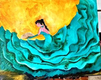 Green Flamenco Dancer