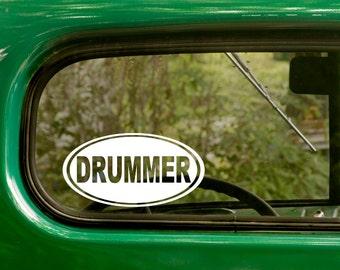 Oval Drummer Decal, Car Decal, Drummer Sticker, Drumming Sticker, Euro Decal, Laptop Sticker, Oval Sticker, Bumper, Vinyl Decal, Car Sticker