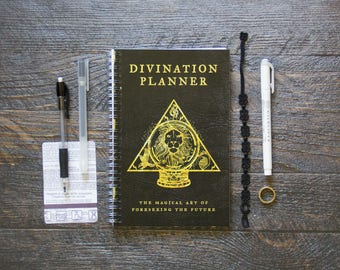 Medium Monthly Planner (120-Pages) | 24 Months | No Weekly Pages | Black Divination Planner