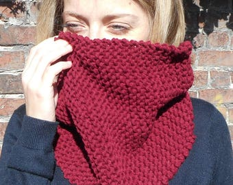 Snood raspberry 100% wool