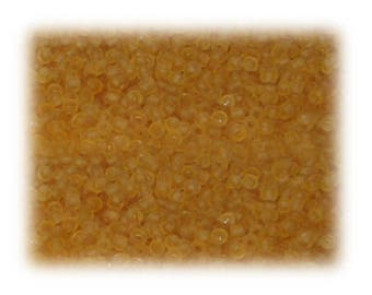 11/0 Soft Gold Frosted Glass Seed Beads - 1 oz. Bag