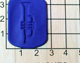 Trumpet Fondant Cookie Cutter AND Stamp #1609