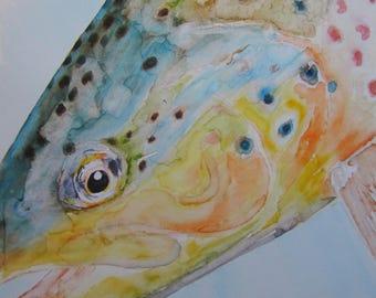 Fish Print Trout 02