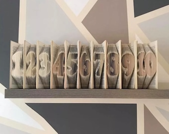 Book folding complete wedding table numbers 1-10