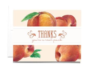 Thank You Peach Note Card