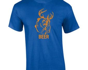 T-Shirt Dear Plus Bear Equals Beer Funny Custom Shirt & Ink Color
