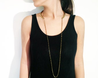 Women Gold Necklace, Gold Neck Cuff, Long Chain Necklace, Gold Cuff Necklace, Open Choker, Collar Necklace, Gold Open Collar, Gold Choker