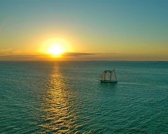 Sailing Off Into The Sunset-Fine Art Photo Blank Greeting Card--Suitable for Framing-Copyright Protected