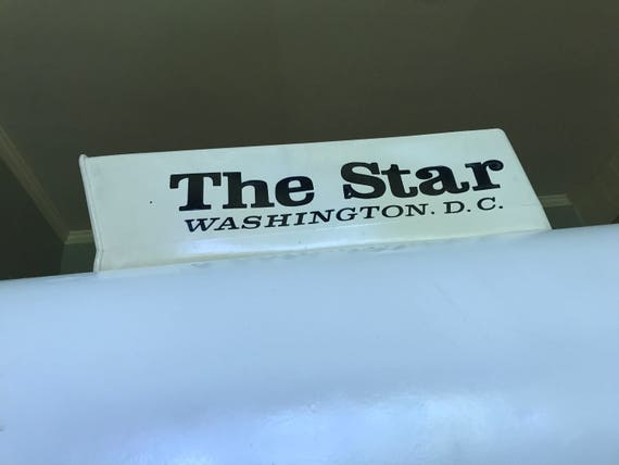 1970s Vintage The Star Washington, D.C. Newspaper Delivery Box