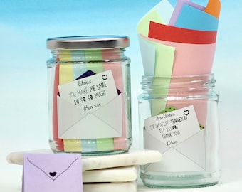 Personalised Message Jar