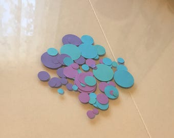 Mermaid Color Party Confetti / Birthday Party / Baby Shower / Bridal Shower / Wedding / Purple, Teal & Blue