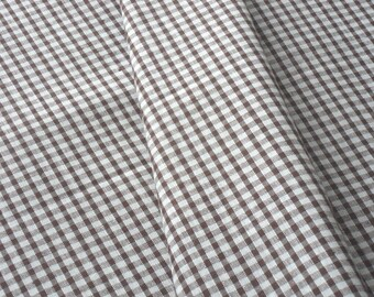 """a beautiful cut of cotton fabric """"Brown gingham"""""""