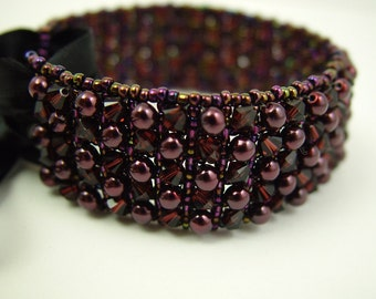 Deep Plum Wine Cuff
