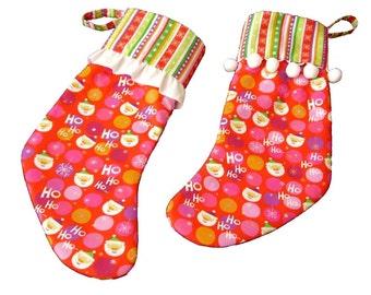 Whimsical Christmas Stockings, Retro Christmas Stockings, His and Hers Christmas Stockings